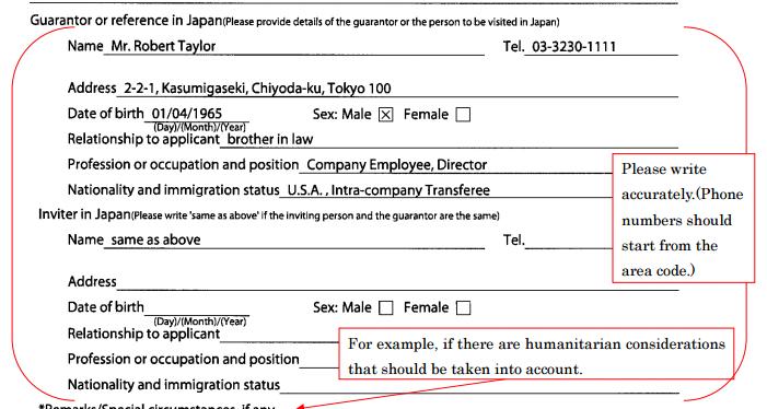 Sample visa 1